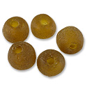 Ghana Recycled Glass Beads Amber 13mm (5-Pcs)