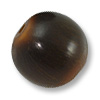 Horn Beads Round Brown 25mm (3-Pcs)
