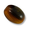 Horn Beads Oval Brown 16.5x13mm (3-Pcs)