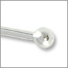 Silver Plated 2 inch Ball End Head Pin 22 Gauge (4-Pcs)