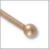 Antique Copper Plated 2 inch Ball End Head Pin 22 Gauge (4-Pcs)