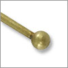 Antique Brass Plated 2 inch Ball End Head Pin 22 Gauge (4-Pcs)