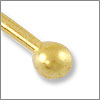 Satin Hamilton Gold Plated 2 inch Ball End Head Pin 22 Gauge (4-Pcs)