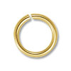 7mm Gold Color Round Open Jump Ring (50-Pcs)