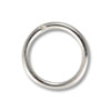 7mm Silver Color Round Open Jump Ring (50-Pcs)