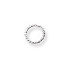 4mm Sterling Silver Twisted Wire Round Open Jump Ring (4-Pcs)