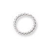 6mm Sterling Silver Twisted Wire Round Open Jump Ring (2-Pcs)