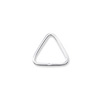 5x5mm Sterling Silver Triangle Open Jump Ring (2-Pcs)