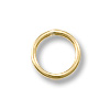 5mm Gold Filled Round Closed Jump Ring (2-Pcs)