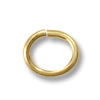 4.6x3mm Gold Filled Oval Open Jump Ring (4-Pcs)