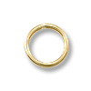 6mm Gold Filled Round Closed Jump Ring (2-Pcs)