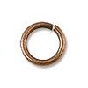 6mm Antique Copper Plated Round Open Jump Ring (10-Pcs)