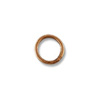 3.8mm Antique Copper Plated Round Closed Jump Ring (10-Pcs)