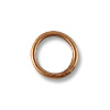 4.6mm Antique Copper Plated Round Closed Jump Ring (10-Pcs)