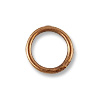 5.6mm Antique Copper Plated Round Closed Jump Ring (10-Pcs)