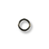 3.8mm Gun Metal Plated Round Closed Jump Ring (10-Pcs)