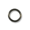 4.6mm Gun Metal Plated Round Closed Jump Ring (10-Pcs)