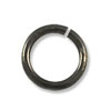 7.5mm Gun Metal Plated Round Open Jump Ring (50-Pcs)