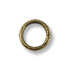 4.6mm Antique Brass Plated Round Closed Jump Ring (10-Pcs)