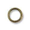 5.6mm Antique Brass Plated Round Closed Jump Ring (10-Pcs)