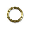 6mm Antique Brass Plated Round Open Jump Ring (100-Pcs)