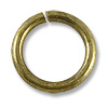 8mm Antique Brass Plated Round Open Jump Ring (50-Pcs)