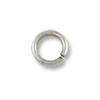 4.5mm Antique Silver Plated Round Open Jump Ring (100-Pcs)