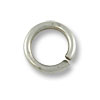 5.5mm Antique Silver Plated Round Open Jump Ring (100-Pcs)