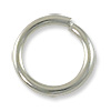 8mm Silver Plated Round Open Jump Ring (50-Pcs)