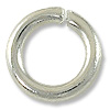 10mm Silver Plated Round Open Jump Ring (10-Pcs)