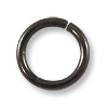 8mm Gun Metal Plated Round Open Jump Ring (50-Pcs)