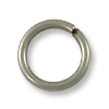 8mm Antique Silver Plated Round Open Jump Ring (50-Pcs)