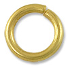 12mm Satin Hamilton Gold Plated Round Open Jump Ring (2-Pcs)