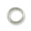 6mm Silver Plated Round Closed Jump Ring (5-Pcs)