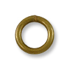 6mm Antique Brass Plated Round Closed Jump Ring (5-Pcs)