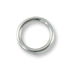 6mm Sterling Silver Filled Round Closed Jump Ring (4-Pcs)