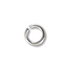 3.5mm Silver Color Round Open Jump Ring (100-Pcs)