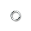 4mm Sterling Silver Round Closed Jump Ring (2-Pcs)