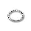 7x5mm Sterling Silver Oval Closed Jump Ring ( 2-Pcs)