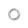 5mm Sterling Silver Round Open Jump Ring (4-Pcs)