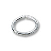 7x5mm Sterling Silver Oval Open Jump Ring (2-Pcs)