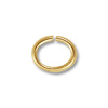 5x4mm Hamilton Gold Color Oval Open Jump Ring (100-Pcs)
