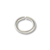 5x4mm Silver Color Open Oval Jump Ring (100-Pcs)