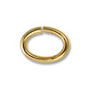 7x5mm Gold Plated Oval Open Jump Ring (100-Pcs)