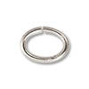 7x5mm Silver Plated Oval Open Jump Ring (100-Pcs)