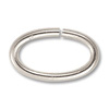 Jump Ring - Oval Open 12x6mm Silver Plated (100-Pcs)