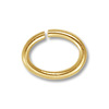 8x6mm Gold Plated Oval Open Jump Ring (50-Pcs)