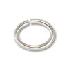 8x6mm Silver Plated Oval Open Jump Ring (50-Pcs)