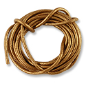 Leather Cord 2mm Copper (5 Foot Pack)