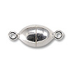 Magnetic Clasp Oval 10x6mm Sterling Silver (1-Pc)